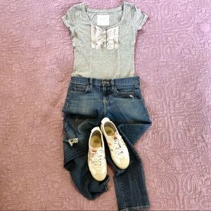 Abercrombie & Fitch Grey Top Size XS.